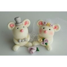 Mice Bride and Groom Cake Topper
