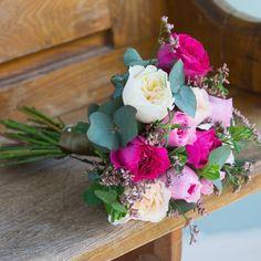 David Austin Mixed Pink Bridesmaid & Flower Girl Bouquet