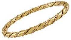 CARTIER Rope Chain Bangle Bracelet (1980's) - Yafa Jewelry
