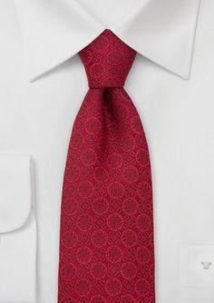 Elegant Mens Tie in Venetian Red