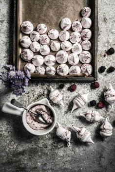 Blackberry Raspberry Meringue Kisses Recipe