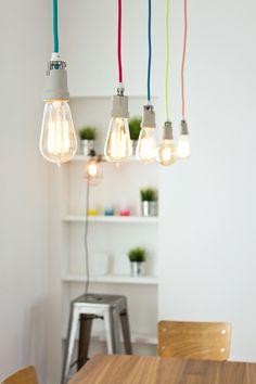 Luminaire « homemade »: Fils de lampes NUD, Ampoules Merci