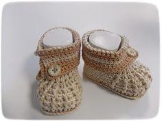 A maglia e all'uncinetto - scarpe da bambino / stivaletti bambino - un pezzo di design di Kelly2706 a DaWanda