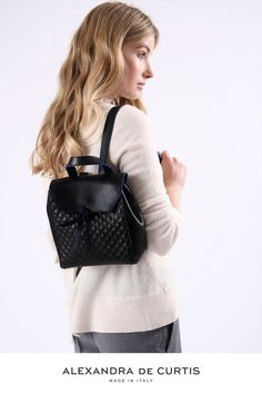 Are you looking for a designer leather handbag? Click through to check out the Bellagio Mini Backpack, handmade in Italy with smooth Italian Leather Handbags, Designer Leather Handbags, Black Leather Handbags, Mini Backpack, Black Backpack, Cher Clueless, Wear To Class, Italian Street, Leather Backpacks