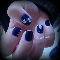 something blue for christmas with snowflakes