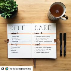 "6,176 Likes, 38 Comments - Ryder Carroll (@bulletjournal) on Instagram: ""#Repost @hollylovesplanning with @get_repost ・・・ This #selfcare spread is a little different than…"""