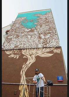 Swanski - Mural w Warszawie Via: Tenisufki.eu