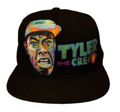 24220f6e110 Tyler the Creator Hand Painted Hat by indielane on Etsy