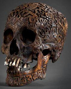 Skull papier mache