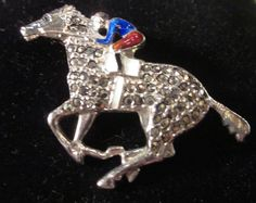 Art Deco Walter Lampl Jockey Horse Brooch by LazyDogAntiqueStore