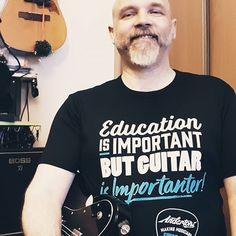 Got my awesome new @andertonsmusicco T-shirt!  English teacher guitarists of the world unite!  #andertons #tshirt #englishteacher #guitarist