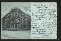 Alte Ansichtskarte: Mondschein-AK Berlin, Deutsche Bank, Mauerstraße Ecke Behrenstraße