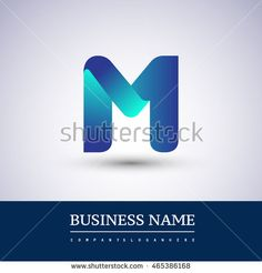 M letter colorful logo, Vector design template elements for your application or…