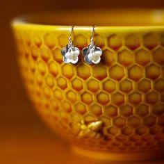 Tiny Pearl Blossom Earrings
