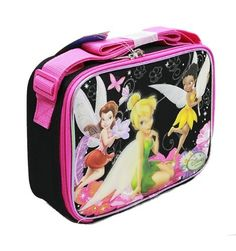 Lunch Bag - Disney - Tinkerbell - Black and Hot Pink by Disney. $14.42. Measures Approximate: 9.5 x 7.5 x 3.5in. Licensed Lunch Bag