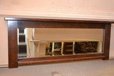 M6 Arts and Crafts Mission Oak Bevelled Mirror