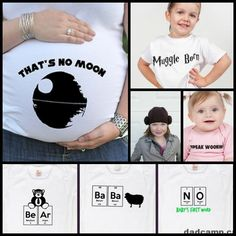 Cute geek clothes for kids and parents from Geekling Designs #geek #starwars #harrypotter