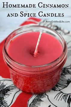 Homemade Cinnamon and Spice Candles; Easily and inexpensively make your own Homemade Cinnamon and Spice Candles! Great for gifts, stocking stuffers, or to scent your own home during the holiday season. These Homemade Cinnamon and Spice Candles are a fun D Homemade Candles, Homemade Crafts, Diy Candles Scented, Easy Crafts, Diy Organic Candles, Citronella Candles, Aromatherapy Candles, Decor Crafts, Home Crafts