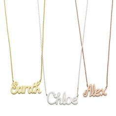 AVA FREESTYLE NECKLACE  Shown in Sterling Silver, and 14K Yelllow and White Gold