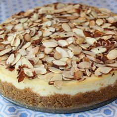 Amaretto Cheesecake ~ Just A Pinch Blue Ribbon Recipe