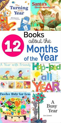 Books about the months of the year - an annotated book list to enrich teaching the months of the year to preschoolers and kindergarteners via @booksandgiggles