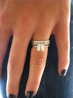 New Love stackable wedding bands minus the princess cut
