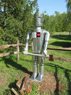 Many tin can man idea 's Make a Tin Can Man in Your Garden