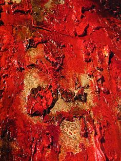 "Original Red Textured Abstract Painting Huge by newwaveartgallery 48""x36"""