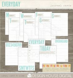 PL journaling cards!