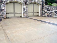 Stamped concrete driveway idea!