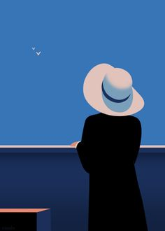 """ ""Lady with a hat"" Art by Thomas Danthony. Great 'gif by… Animiertes Gif, Animated Gif, Gifs Cute, Thomas Danthony, Flowers Wallpaper, Foto Gif, Plakat Design, Affinity Designer, Aesthetic Gif"