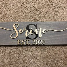 Last Name Sign Wedding Gift Family Name Sign Anniversary Last Name Signs, Family Name Signs, Personalised Box, Personalized Signs, Painted Name Signs, Family Name Established, Monogram Signs, Custom Wood Signs, Pallet Signs