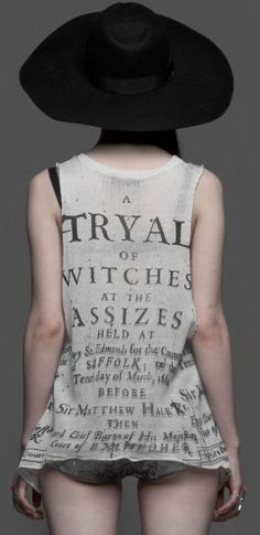 If I was going shopping for my birthday stuff right now, I would want to wear this shirt with my black shorts and my skater shoes -- a nice blend of goth and tomboyishness :P house of widow witchtryal white