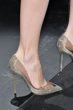 gorgeous heels Armani Privé gold, silver, glitter perfection