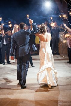 Sparkler Send Off | Peary Photography | Theknot.com