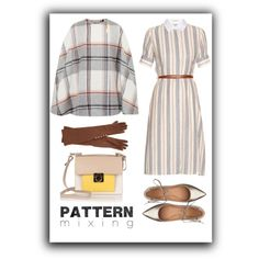 Head-to-Toe Pattern Mixing by marinaova on Polyvore featuring Altuzarra, Ted Baker, Sigerson Morrison, Salvatore Ferragamo, Henri Bendel and patternmixing