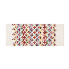 Tapis imprimé ethnique multicolore 80x200cm PONDICHERY