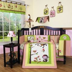 Geenny Boutique Monkey 13 Piece Crib Bedding Set