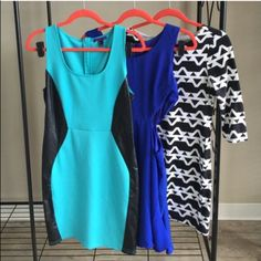 (3pc) PreMade Dress Bundle Just an easy way for you to get more bang for your buck. ask all your questions and then let's get these perfect dresses home to you. bundle includes: FOREVER 21 Blue (L), FOREVER21 Black & White (L), VERY J Navy Blue (L) Forever 21 Dresses