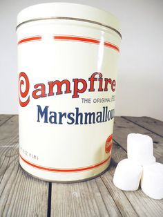 Campfire Marshmallow Canister, marshmallows will always be delicious! #marshmallows #canister #campfire