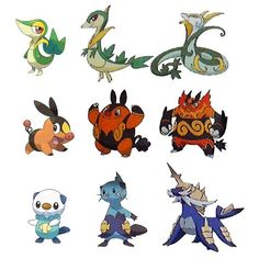 pokemon evolution snivy tepig - Google Search