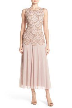eef9af4de59 Beaded Mesh Gown (Petite) by Pisarro Nights on  nordstrom rack Pink Sequin  Dress