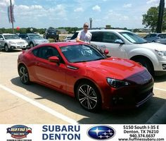 #HappyAnniversary to Tyler Wiggs on your 2013 #Subaru #Brz from Tim Spencer at Huffines Subaru Denton!