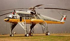 Long legged Soviet helicopter.... It's more like a plane with a rotor and jacked up landing gear!