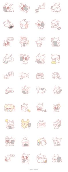 Marshmallow Line stickers by Carina Soares