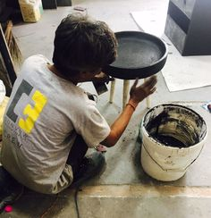 Handcrafted concrete furniture by Convow Inc.