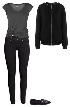 """""""Untitled"""" by hameeps ❤ liked on Polyvore featuring H&M, Lija, Soda and BLK DNM"""