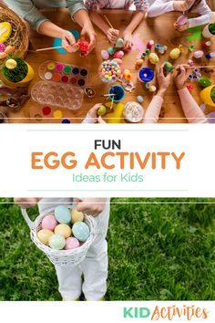 A collection of fun activity ideas for kids including egg games and egg race ideas. Holiday Activities For Kids, Games For Toddlers, Easter Activities, Spring Activities, Egg Game, Teacher Lesson Plans, Preschool Age, Activity Ideas, School Fun