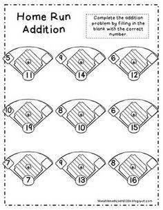 Baseball Division #3 | Division, Worksheets and Baseball