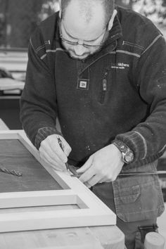 Using precision marking for an accurate fit while assembling our cabinetry face frame www.benchwoodkitchens.co.uk